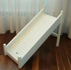 over stairs dog ramp pretty in white to match fence