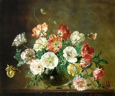 Flowers Painting by Cecil Kennedy (1905 – 1997), was a British artist best known for his highly detailed oil paintings of flowers.