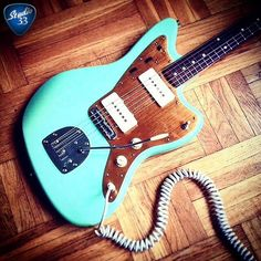 Checkout this sweet #Fender #Jazzmaster in Surf Green from @jkpg_guitars Visit http://ift.tt/1BFjoWP for free video guitar lessons #Studio33Guitar