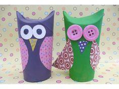Wise owls - Top junk modelling ideas for kids