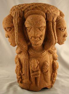 Nok figurative sculpture, Nigeria, c.500BC-200AD (terracotta)