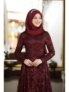 The perfect addition to any Muslimah outfit, shop Al-Marah's stylish Muslim fashion Maroon - Unlined - Crew neck - Muslim Evening Dress. Find more at Modanisa! The Dress, High Neck Dress, Muslim Evening Dresses, Muslim Fashion, Crew Neck, Stylish, Outfits, Shopping, Collar Pattern