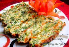 Baked Spinach Carrot Omelet Recipe : Nadia Natasha Image: Nadia Natasha Time: 30 Minutes