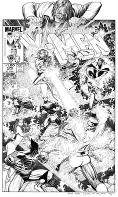 Uncanny X-Men #175, cover art by Arthur Adams