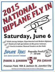 Junction City App News Center: National Biplane Fly In - Junction City