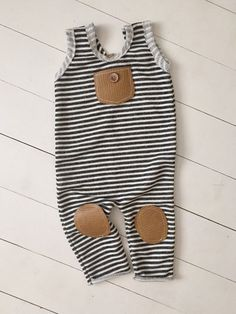 531be14a3395 Super adorable black and white stripe romper with leather accents! A couple  sets rts.