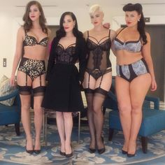 """With my girls @1alexandramartin @stefania_model @margaretmacpherson  today as we showed my new #lingerie collection for @myer (also @Bloomingdales…"""