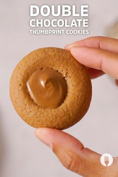 Ever wondered how to make the perfect chocolate cookie? These double chocolate cookies are super easy and use minimal ingredients to make the cutest-ever sweet treats! This is the ULTIMATE thumbprint cookie recipe - and it's so easy that the kids bake along too! Let's get snacking! Chocolate Thumbprint Cookies, Thumbprint Cookies Recipe, Double Chocolate Cookies, Florentine Cookies, Baking With Kids, Biscuit Cookies, Biscotti, Granola, Sweet Recipes