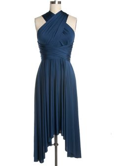 It S Magical Convertible Dress In Blue Pea