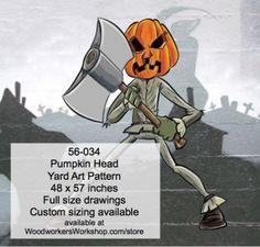 56-034 - Pumpkin Head Yard Art Woodworking Pattern