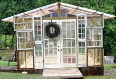20 Re-Purposed Window Greenhouses  -    http://www.realfarmacy.com/20-re-purposed-window-greenhouses/