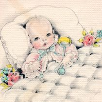 Free_Vintage_Baby_Clip_Art_by_FPTFY    This looks like one in the Baby Book my momma made for me in 1949!