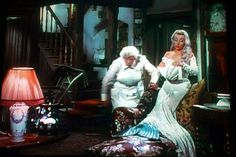 "Margaret Rutherford, Glynis Johns ""Mad About Men"" All of her dresses are glorious. Glynis Johns, Margaret Rutherford, Goddess Of The Sea, Mermaid Images, Mermaid Outfit, Miss Marple, Underwater Creatures, Fantasy Films, Mermaids And Mermen"