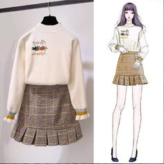 Gorgeous Clothes for korean street fashion 793 Korean Girl Fashion, Ulzzang Fashion, Korean Street Fashion, Cute Fashion, Womens Fashion, Fashion Design Drawings, Fashion Sketches, Pretty Outfits, Cool Outfits