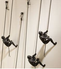Climbing Wall Sculpture. I remember seeing this in a hotel somewhere, maybe Hartford/Philadelphia.