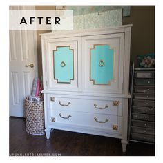 Hometalk :: A $30 Mid-Century Armoire Gets a Makeover