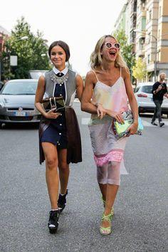 Girls just wanna have fun #StreetStyle #Celebrity .Miroslava Duma.