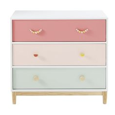 Children's Chest of 3 Drawers Tropicool on Maisons du Monde. Take your pick from our furniture and accessories and be inspired! Kids Bedroom Furniture, Baby Furniture, Upcycled Furniture, Luxury Furniture, Furniture Ideas, Painted Drawers, Desk With Drawers, Chest Drawers, Baby Room Decor