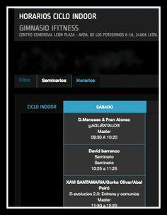 Horarios Ciclo Indoor Zone FF 2014