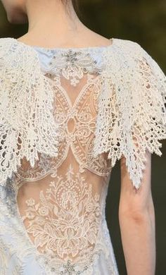 Claire Pettibone Fall 2015 Couture Bridal Collection is inspired by Notre Dame, Westminster Abbey, Milan and St. Bridal Collection, Dress Collection, Bridal Dresses, Wedding Gowns, Romantic Dresses, Claire Pettibone, Couture Details, Fashion Details, Linens And Lace