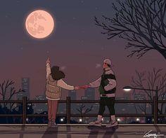 When it rains on We Heart It Cute Couple Drawings, Cute Couple Art, Anime Couples Drawings, Cute Anime Couples, Cute Drawings, Hipster Drawings, Pencil Drawings, Paar Illustration, Couple Illustration