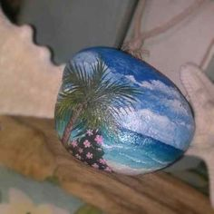 Hand Painted Rock Palm Beach | eBay