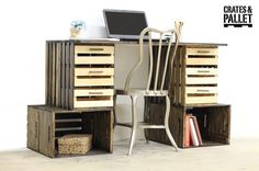how to make a storage-loaded crate desk