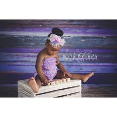 From floordrop to backdrop - we love how versatile the Shades of Purple Wood floordrop is! Just look at this gorgeous shot by Kyla Branch Photography. Children Photography, Animal Photography, Studio Backdrops, Wood Backdrops, Photographing Kids, Photography Equipment, Photography Backdrops, Shades Of Purple, Cute Photos