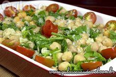 #BomDia! Olha esta deliciosa dica para o #almoço... É a simples e nutritiva Salada de Grão-de-bico com Rúcula, vão ADORAR!  #Receita aqui => http://www.gulosoesaudavel.com.br/2013/10/22/salada-grao-bico-rucula/