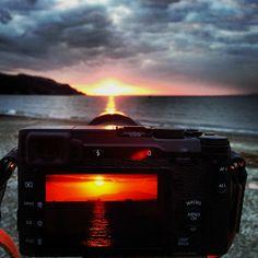 FUJIFILM X-E2 with sunset Photography by Yoshiharu Shigeta