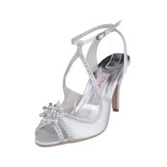Satin Bridal Shoes with Pearl and Rhinestone Shoes Size:35/36/37/38/39/40/41/42Shoes Color:White/Ivory/Champagne/Gold/Pink/Red/Royal Blue/Silver/BlackFeatures:SandalsOccasion:Wedding/Special OccasionSeason:Spring/Summer/FallToe Type:Peep ToesHeel Type:Spool Heel/Stiletto HeelHeight:9Material:SatinShown Color:White IvoryEmbellishment:Rhinestones/Crystal/GlitterNet Weight:0.75kgColor:White…