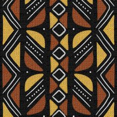 Mudcloth Inspired Butterfly custom fabric by eclectic_house for sale on Spoonflower African Quilts, African Rugs, African Mud Cloth, African Textiles, African Fabric, African Art, African Tribal Tattoos, Textile Pattern Design, African Design