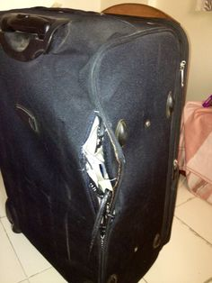 Ever have damaged luggage before? Take a look! Fly Air, Air India, Customer Service, Spicy, How To Find Out, Take That, Fashion, Moda, Fashion Styles