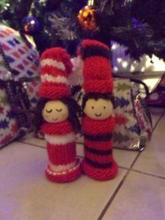 Karácsonyi manók (Cristmas Gnomes) #christmasgift #madebyme #gnome #knitting #knitpurl