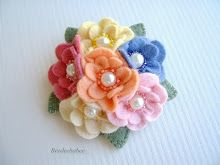 multi flower pin
