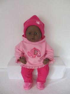 Voor Baby Annabell en ChouChou Een leuk setje sweater met capuchon een mooi broekje van baby-ribcord