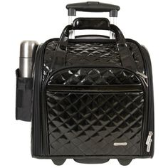 Travel light with this convenient wheeled under-seat carry-on. With a unique domed shape and compact size, this bag also makes a cozy in-flight footrest, and it includes a handy tote bag that folds up and fits into one of its pockets when not in use.