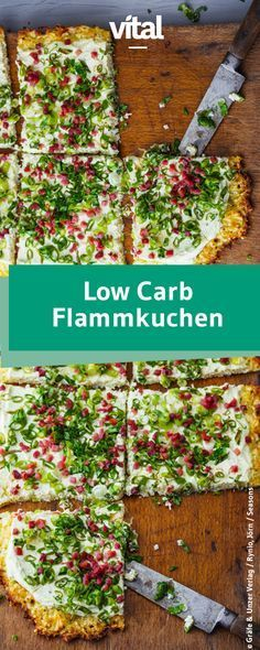 Leckere Low Carb Rezepte Flammkuchen with a difference: The bottom here is made from almond flour and granular cream cheese. Try our recipe for a low carb tarte flambée with onions and bacon! Healthy Protein Snacks, Protein Foods, Keto Snacks, Snack Recipes, Pizza Recipes, Dinner Recipes, Flour Recipes, High Protein, Get Healthy