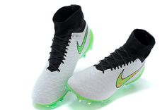 Real 2015 Nike Magista Obra FG White Green Orange Black $104.99