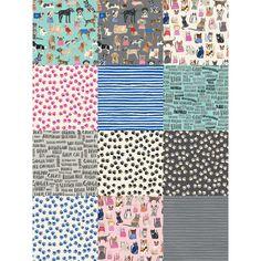 Windham Fabrics Carolyn Gavin Hot Dogs & Cool Cats Fat Quarters 18 X 22 | Precuts