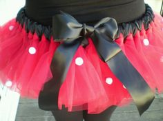 Minnie Mouse Costume Tutu for Adult....Think I may wear this for the Disney Marathon =) Yes!!!