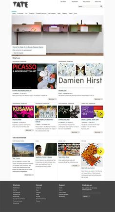 Top art exhibition chain Tate have redesigned their website