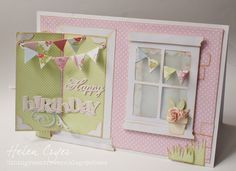 The Dining Room Drawers: Sizzix Opening Door die card