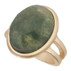 TOPSHOP Semi Precious Ring ($12) ❤ liked on Polyvore featuring jewelry, rings, accessories, earrings, green, topshop, green jewelry, green ring, topshop jewelry and semi precious stone jewelry
