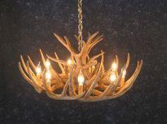Whitetail Deer antler chandelier by Cast Horn Designs #antlerchandelier #rusticdecorating