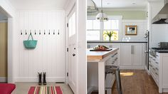kitchens enter from mud room | Hastings Farmhouse Mudroom & Kitchen Prep Space