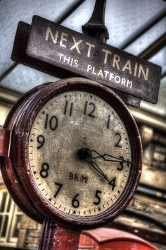 """Time was passing like a hand waving from a train I wanted to be on. I hope you never have to think about anything as much as I think about you."" ~ Jonathan Safran Foer - ""Time was passing like a hand waving from a train. Old Clocks, Antique Clocks, Vintage Clocks, Father Time, Somewhere In Time, Old Trains, Vintage Trains, Orient Express, Vintage Tv"