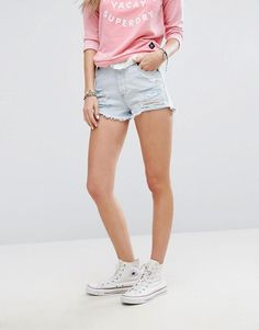 Superdry Ripped Detail Denim Short