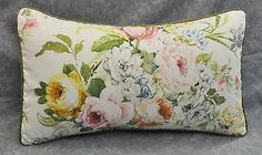 Pillow-made-w-Ralph-Lauren-Home-Lake-White-Floral-Rose-Fabric-20x12-trim-cord