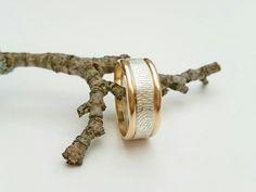 Silver and Gold Fingerprint Band Fingerprint Jewelry, Cufflinks, Band, Silver, Accessories, Sash, Wedding Cufflinks, Bands, Money